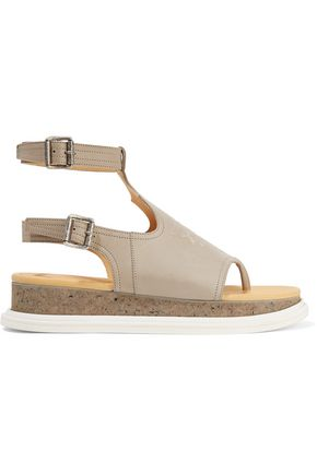 MM6 MAISON MARGIELA Embroidered leather sandals
