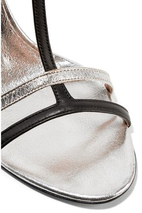 MAISON MARGIELA Metallic smooth and textured-leather sandals