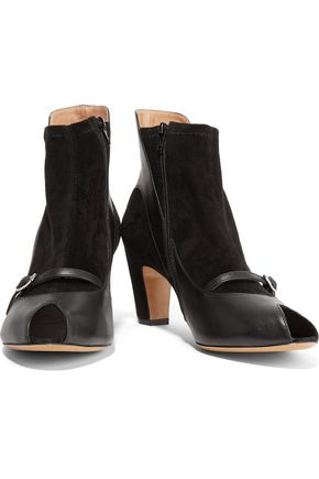 MAISON MARGIELA Leather-trimmed suede ankle boots