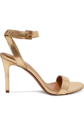 2053cac1bfdeea TORY BURCH Elana metallic textured-leather sandals ...