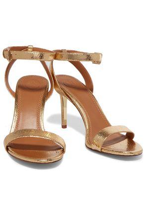 50b642260b2 ... TORY BURCH Elana metallic textured-leather sandals ...