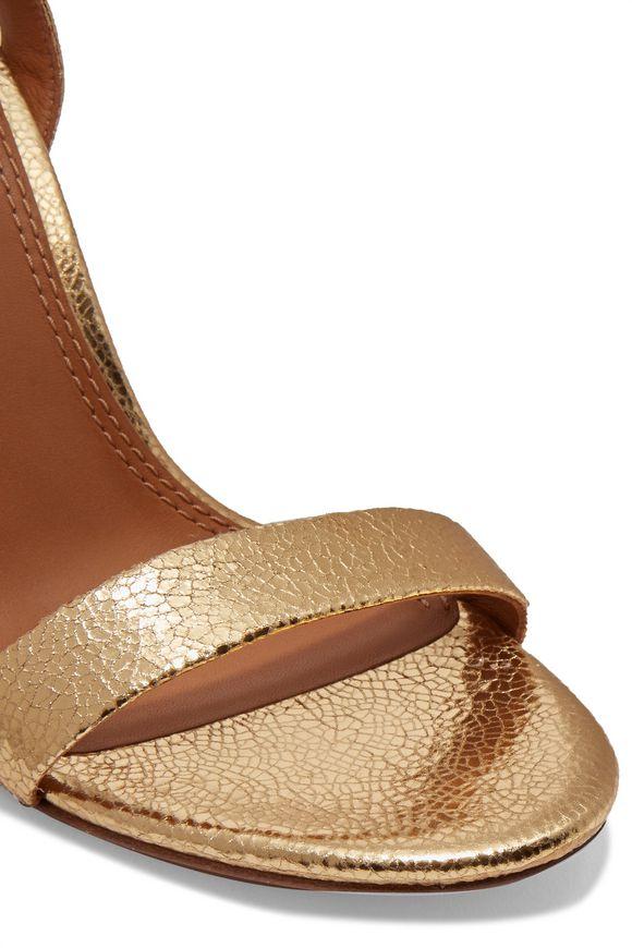 4d70ec224e78 Elana metallic textured-leather sandals