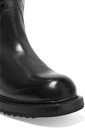 RICK OWENS Cyclops glossed-leather boots