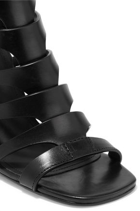 RICK OWENS Nautilus leather wedge sandals