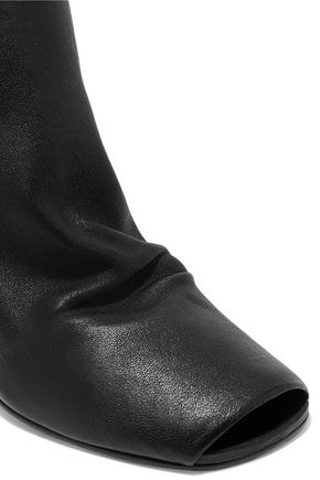 RICK OWENS Stretch-leather wedge ankle boots