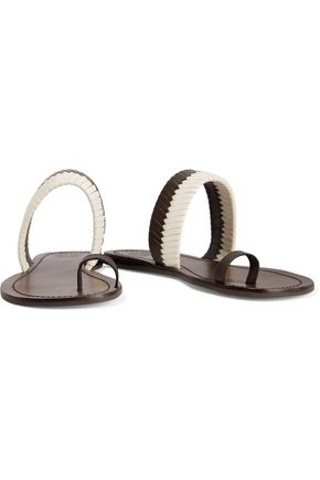 TORY BURCH Textured-leather sandals