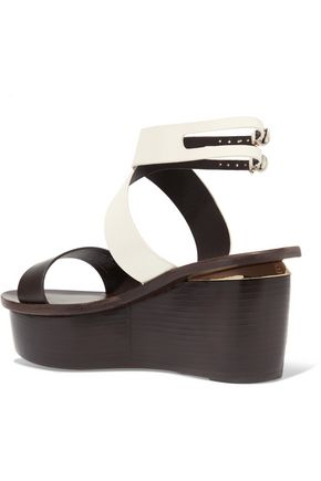 TORY BURCH Mino leather wedge sandals