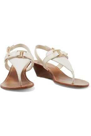 TORY BURCH Casey leather wedge sandals