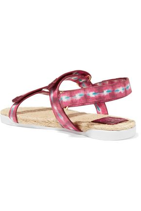 TORY BURCH Atanado printed leather sandals