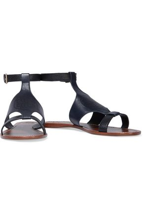 TORY BURCH Perforated leather sandals