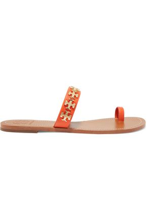 TORY BURCH Val embellished leather sandals