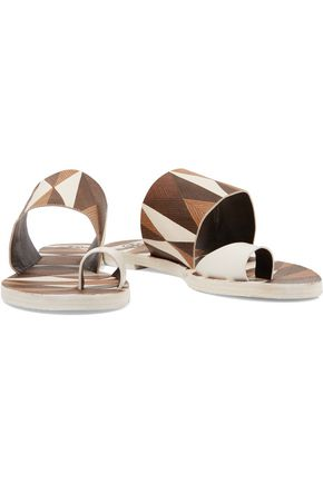 TORY BURCH Kempner printed leather sandals