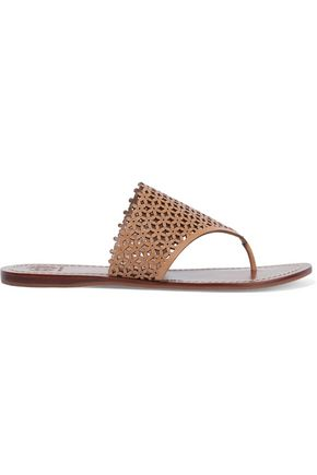 TORY BURCH Laser-cut leather sandals