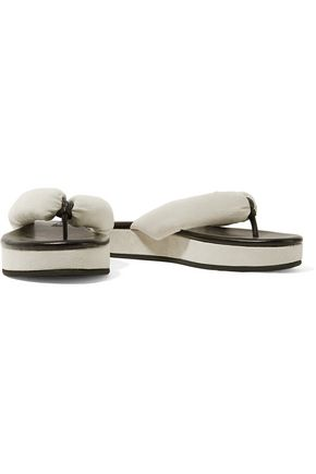NEWBARK Beatrice suede and snake-effect leather sandals