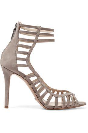 SCHUTZ Saule cutout suede sandals