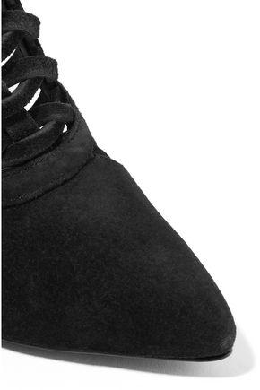 SCHUTZ Mulanita cutout suede ankle boots