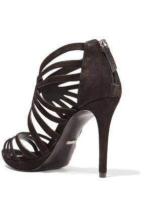 SCHUTZ Yasmine cutout suede sandals