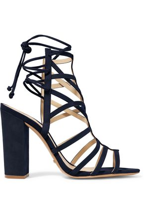 SCHUTZ Loriana cutout suede sandals