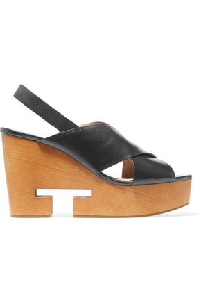 TORY BURCH Infinity cutout wedge sandals