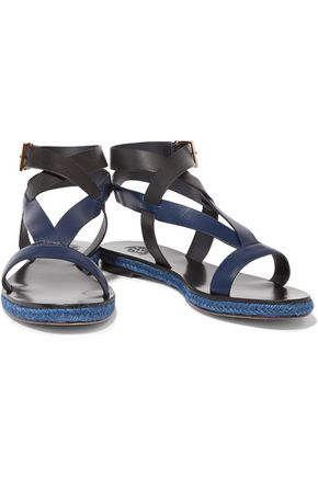 TORY BURCH Marbella two-tone leather sandals