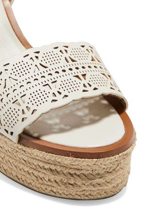 TORY BURCH Roselle laser-cut leather sandals