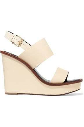 TORY BURCH Lexington leather wedge sandals