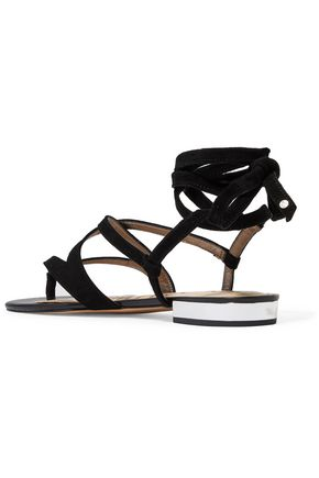 SAM EDELMAN Davina lace-up suede sandals