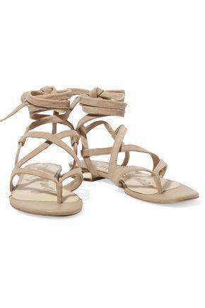 SAM EDELMAN Davina lace-up suede sandals