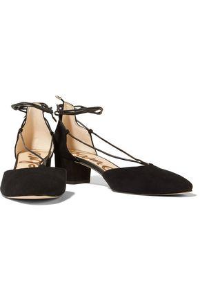 SAM EDELMAN Loretta lace-up suede sandals