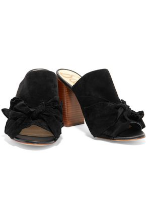 SAM EDELMAN Yumi bow-embellished suede sandals