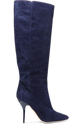 JIMMY CHOO Drape suede knee boots