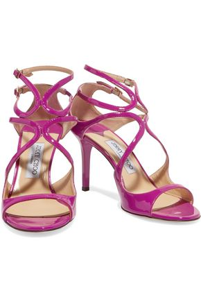 JIMMY CHOO LONDON Ivette patent-leather sandals