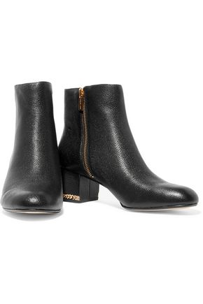 MICHAEL MICHAEL KORS Sabrina textured-leather ankle boots