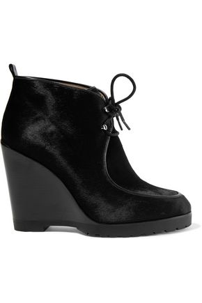 MICHAEL KORS COLLECTION Beth calf hair wedge ankle boots