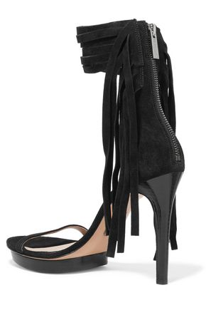 MICHAEL MICHAEL KORS Daphne fringed suede sandals