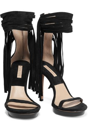 MICHAEL KORS COLLECTION Daphne fringed suede sandals