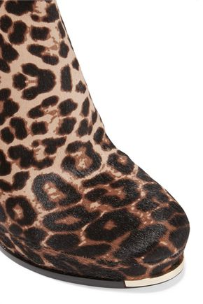 MICHAEL KORS COLLECTION Layton leopard-print calf hair ankle boots
