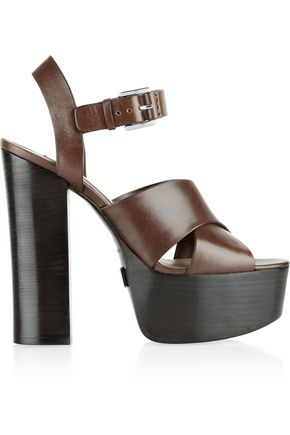 MICHAEL KORS COLLECTION Crista leather platform sandals
