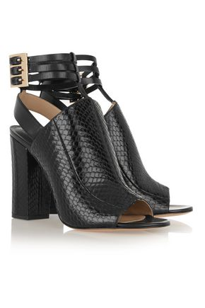MICHAEL KORS COLLECTION Phaedra snake-effect leather sandals