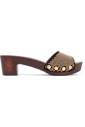 GIUSEPPE ZANOTTI Studded suede sandals