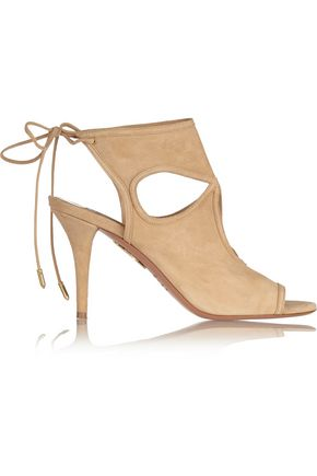 WOMAN SEXY THING CUTOUT SUEDE SANDALS SAND