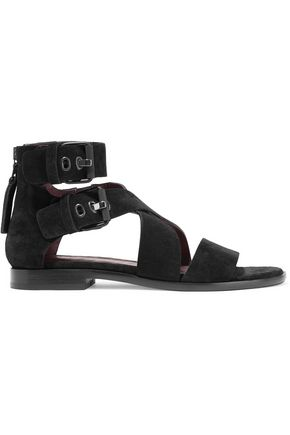 RAG & BONE Madeira buckled suede sandals