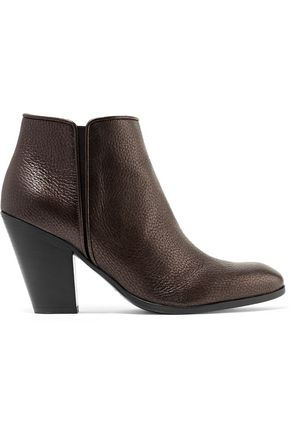 GIUSEPPE ZANOTTI DESIGN Metallic textured-leather ankle boots