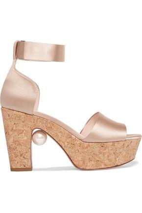 NICHOLAS KIRKWOOD Maya satin platform sandals