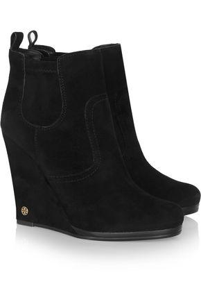 TORY BURCH Hendin suede wedge boots