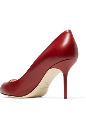 SERGIO ROSSI Glossed-leather pumps