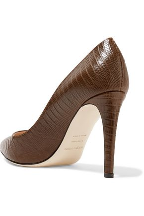 SERGIO ROSSI Textured-leather pumps