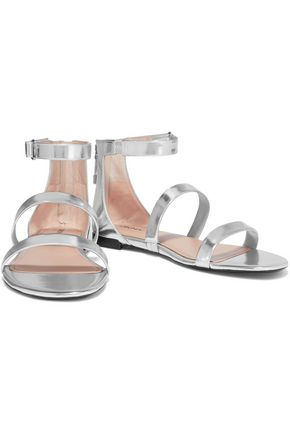 DKNY Fiona metallic leather sandals