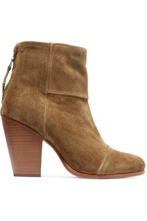 RAG & BONE Paneled suede ankle boots