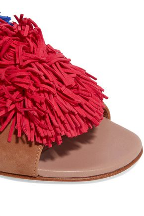 MALONE SOULIERS Sherry tassel-trimmed suede sandals